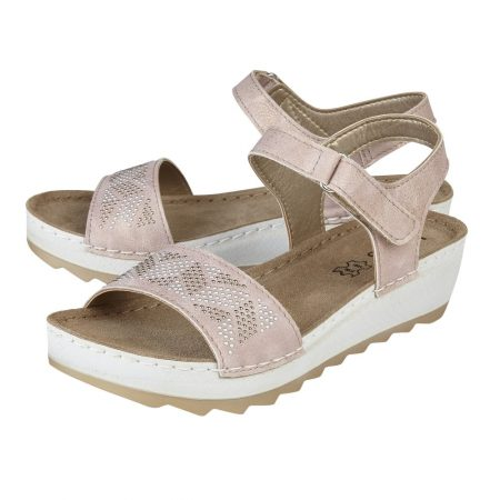 Lotus Massari Pale Pink Shimmer Sandals
