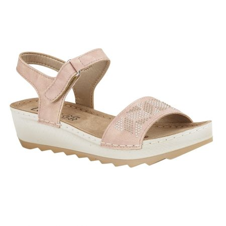 Lotus Massari Pale Pink Shimmer Sandals