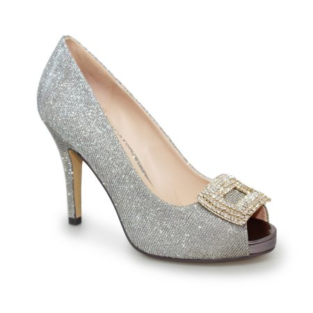 Lunar Kylo Gold Glitter Platform Heels