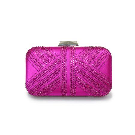 Lunar Ruth Pink Diamante Evening Bag