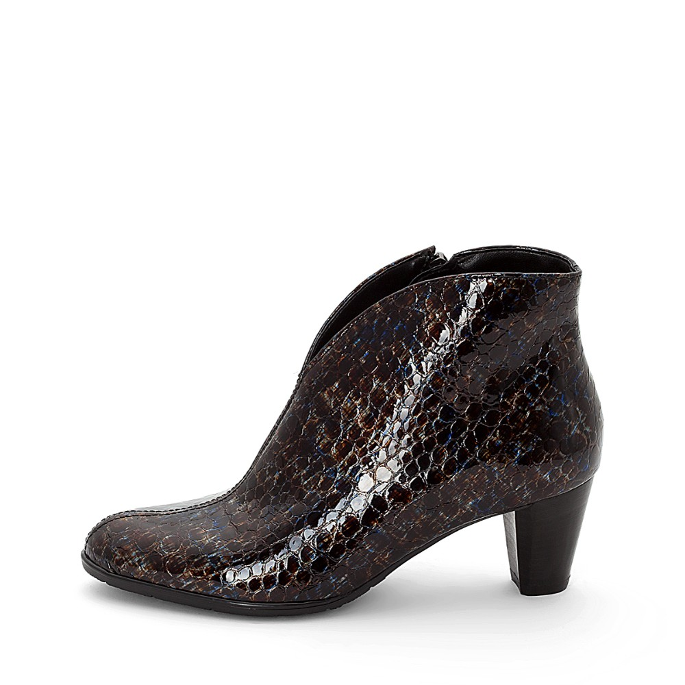 classic price reduced utterly stylish Ara Toulouse Multi Print Heeled Ankle Boots