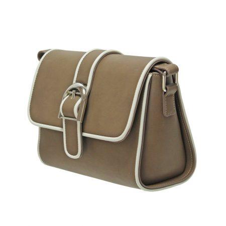 Envy Taupe Small Satchel Shoulder Bag