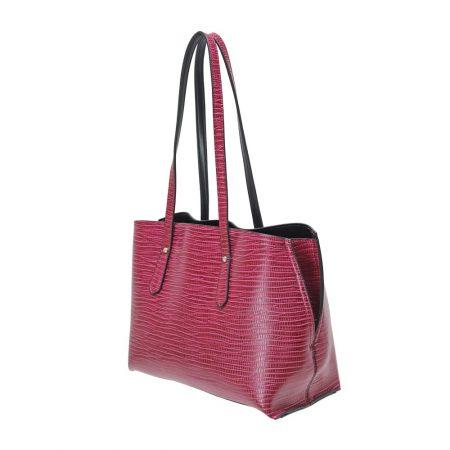 Envy Berry Snake Print Medium Handbag
