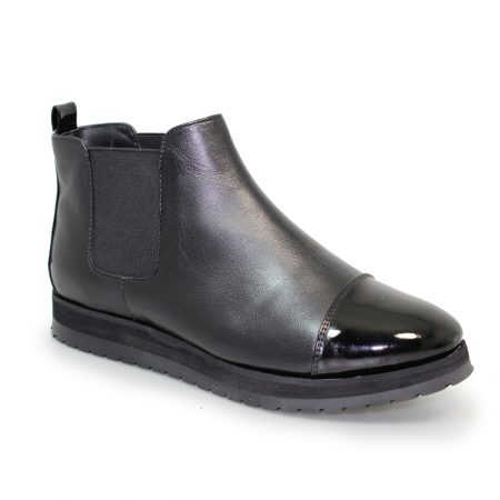 Lunar Plum Black Leather Platform Boots