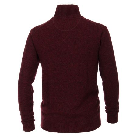 Casa Moda Dark Burgundy Zip Jumper