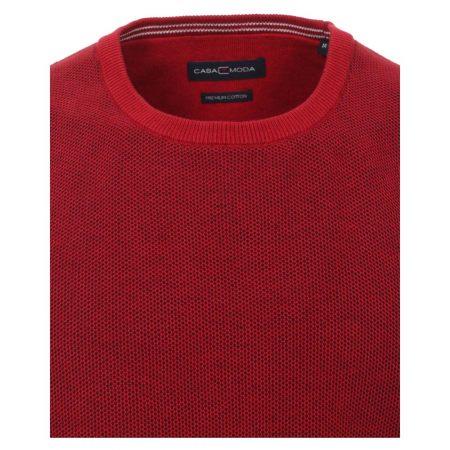 Casa Moda Red Round Neck Jumper