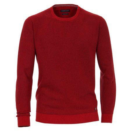 Casa Moda Red Round Neck Jumper