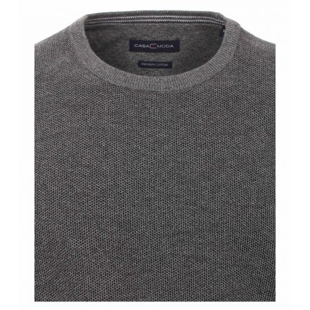 Casa Moda Grey Round Neck Jumper