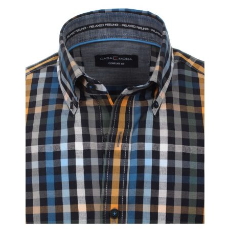 Casa Moda multi coloured check shirt