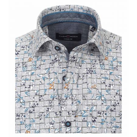 Casa Moda grey patterned shirt