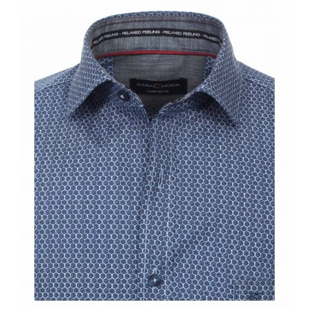 Casa Moda Blue patterned shirt