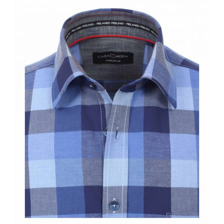 Casa Moda Blue Check Shirt