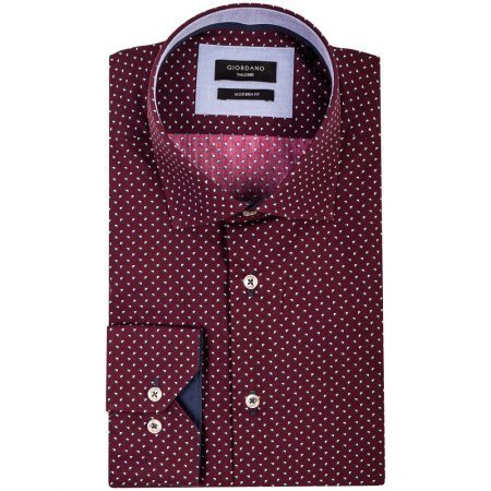 Giordano Wine Tailored fit Long Sleeve Shirt
