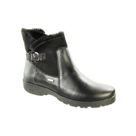 Alpina Aleka Black Leather Snow Boots