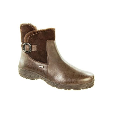 Alpina Aleka Brown Leather Snow Boots