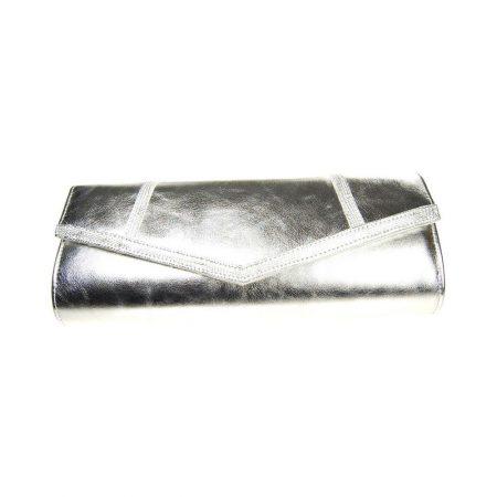 Capollini Selena Metallic Silver Evening Bag
