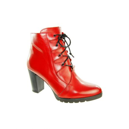 Capollini Darcey Red Leather Ankle Boots