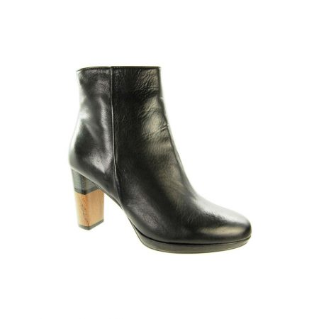 Capollini Francine Black Leather Ankle Boots