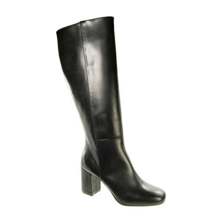 Capollini Gillian Black Leather Knee High Boots