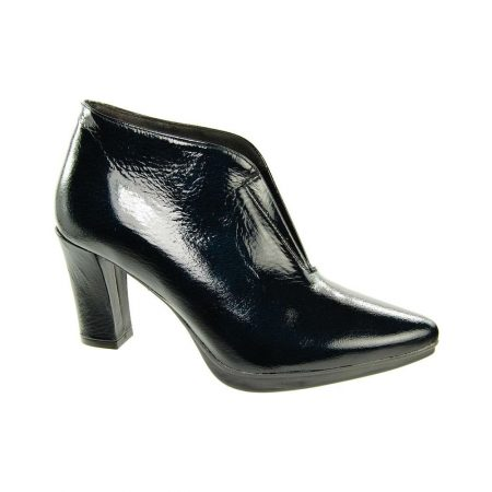 Capollini Imelda Black Patent Leather Boots