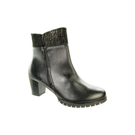 Alpina Kat Black Leather Ankle Boots