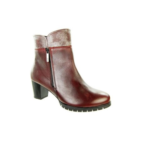 Alpina Kat Bordo Leather Ankle Boots