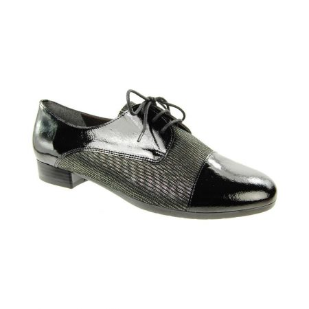 Alpina Kea Black Print Brogue Shoes