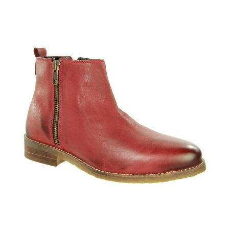 Adesso Megan Wine Leather Chelsea Boots