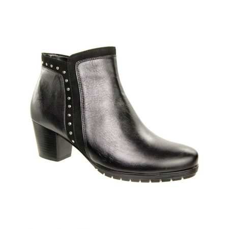 Alpina Nisha Black Leather Ankle Boots