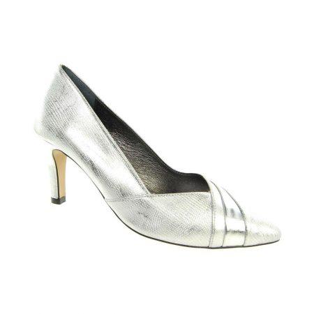 Capollini Selena Metallic Silver Heels