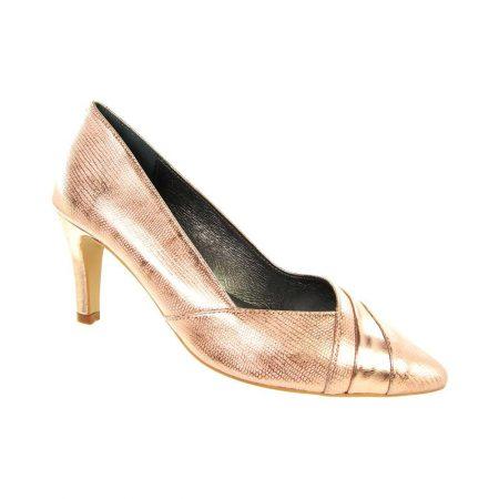 Capollini Selena Metallic Rose Gold Heels