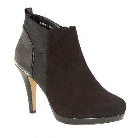 Lotus Aggy Black Heeled Shoe Boots