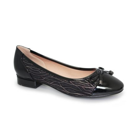 Lunar Dante Black Patterned Flat Shoes