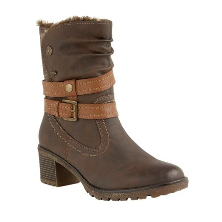 Lotus Relife Sambar Brown Mid Calf Boots