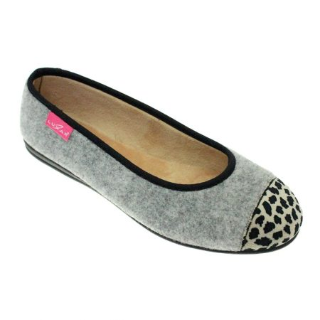 Lunar Denise Grey Print Full Slippers