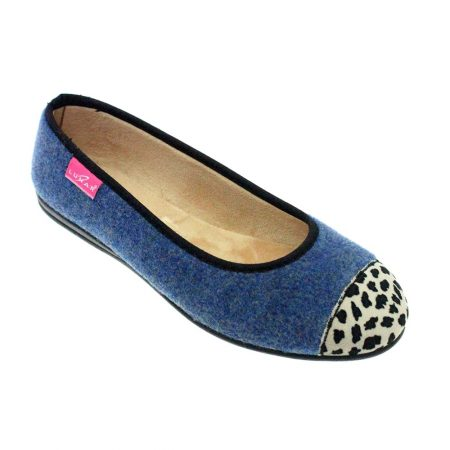 Lunar Denise Blue Print Full Slippers