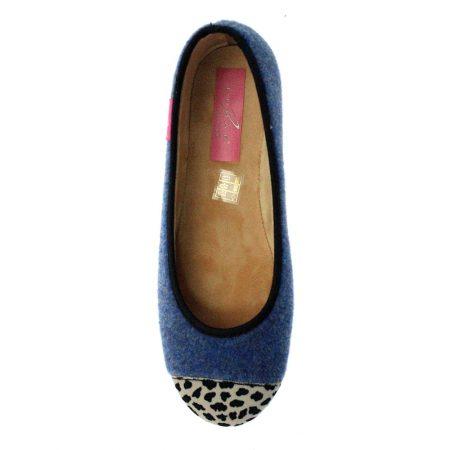 Lunar Denise Blue Print Full Slippers