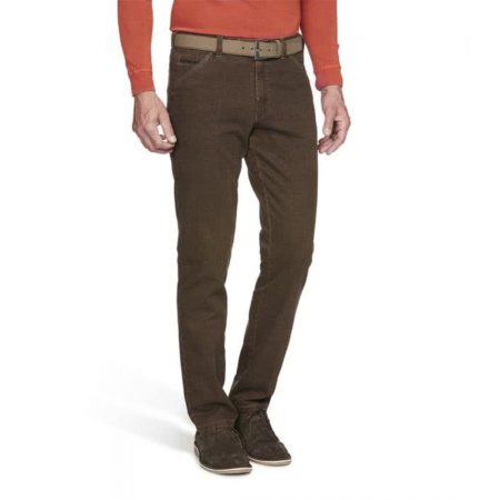 Meyer camel cotton Chicago stretch trousers