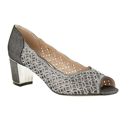 Lotus Attica Metallic Pewter Mid Heels