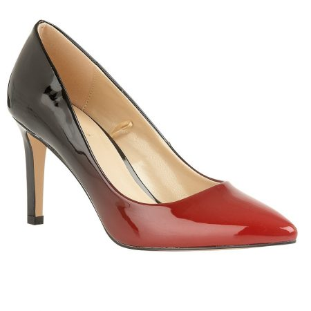 Lotus Rapid Red Black Patent Heels