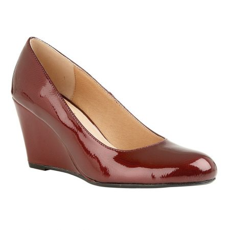 Lotus Cache Red Patent Wedge Shoes