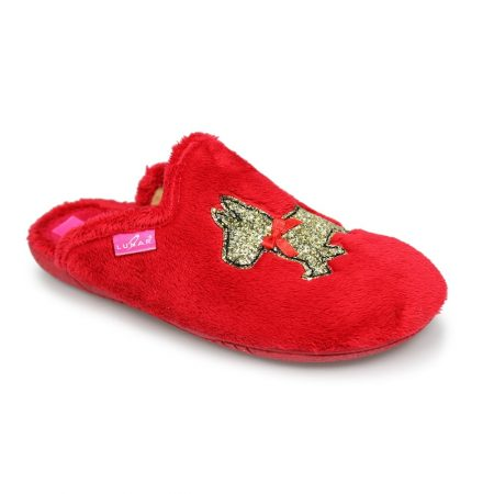 Lunar Rex Red Scottie Dog Slippers