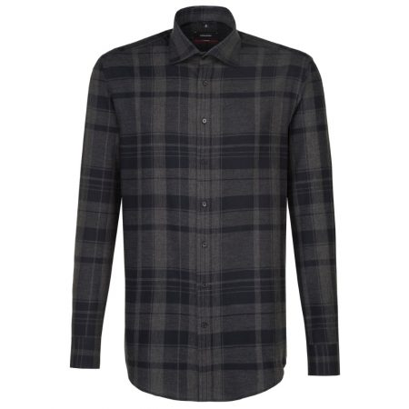 Seidensticker Black Check Long Sleeve Shirt