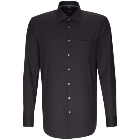 Seidensticker Black Long Sleeve Shirt