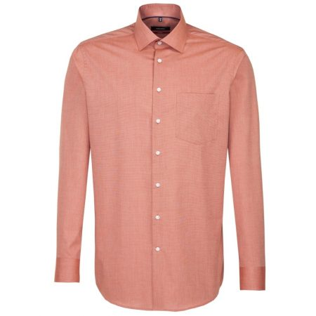 Seidensticker Rust Long Sleeve Shirt