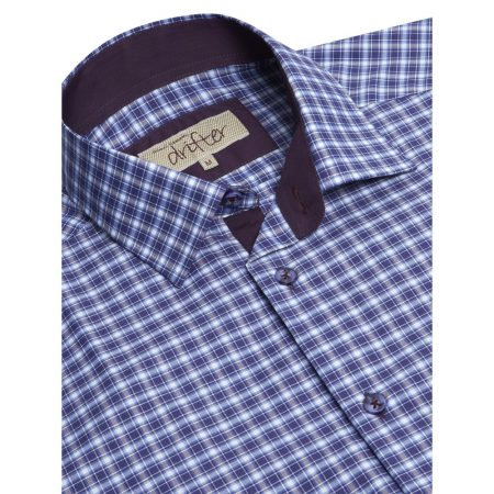 Drifter lilac check shirt
