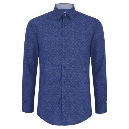 Drifter Dark Blue Patterned shirt