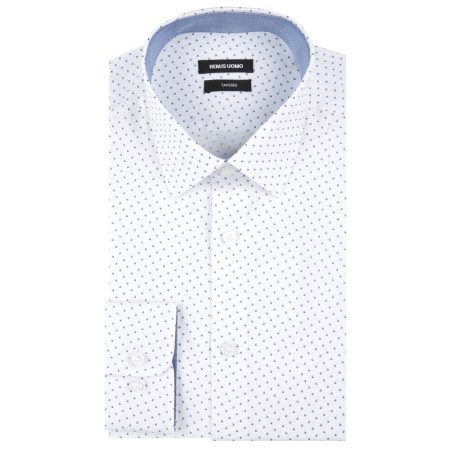 Remus Uomo White Long Sleeve Patterned Shirt