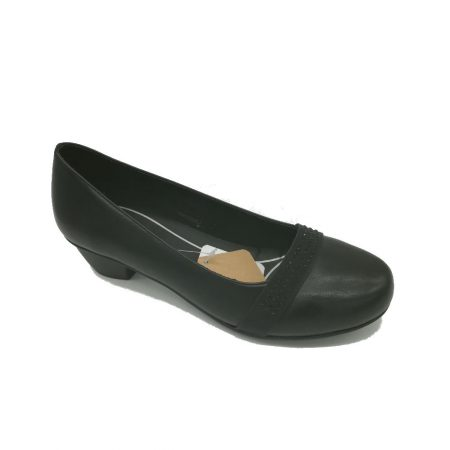Antonio Dolfi Black Low Heeled Shoes