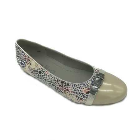 Jenny Ara Pisa Multi Print Flat Shoes